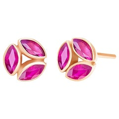 Melissa Kaye Hazel Ruby Earrings