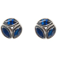 Melissa Kaye Hazel Sapphire Earrings