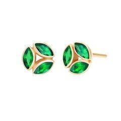 Melissa Kaye Hazel Tsavorite Earrings