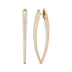 Melissa Kaye Large Diamond Cristina Earrings