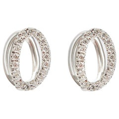 Melissa Kaye Small Mila White Gold and Diamond Earrings