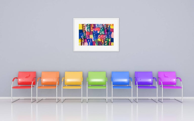 Ambassade 44 (Abstract Expressionism painting) - Painting by Melissa Meyer