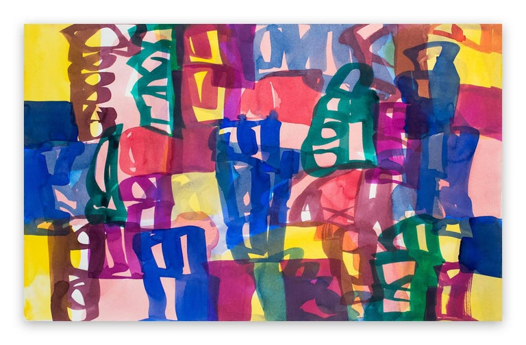 Melissa Meyer Abstract Painting - Ambassade 44 (Abstract Expressionism painting)