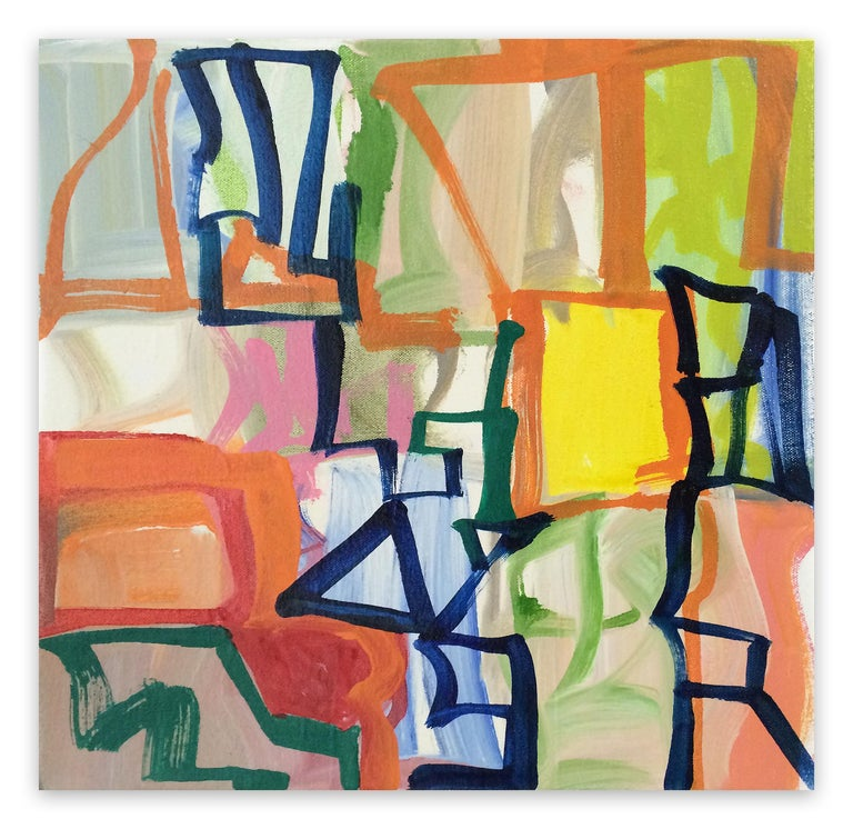 Melissa Meyer Abstract Painting - Capital R (Abstract Expressionism painting)