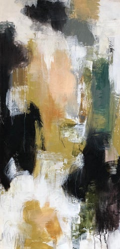 Allure I by Melissa Payne Baker, Large Vertical Abstract Mixed Media Painting