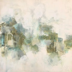 Comfort by Melissa Payne Baker, square Abstract Contemporary Canvas Painting