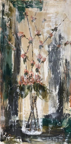 Elegance by Melissa Payne Baker, Vertical Contemporary Abstract Floral Painting