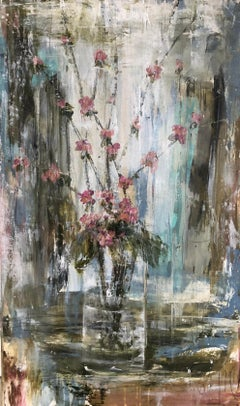 Hearts Blossom by Melissa Payne Baker, Abstract Floral Still-Life Painting
