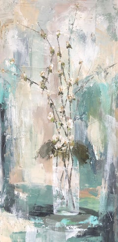 Soft Quince by Melissa Payne Baker, Floral Abstract Canvas Painting