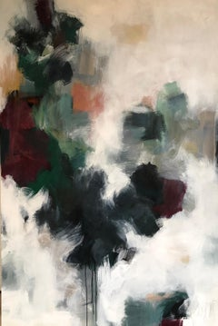 Velvet by Melissa Payne Baker, Large Vertical Abstract Mixed Media Painting