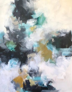 Warrior by Melissa Baker, Large Mixed Media on Canvas Framed Abstract Painting