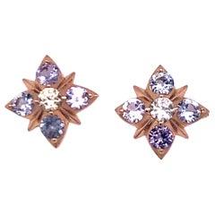 Melissa Spencer Spinel Starburst Stud Earrings