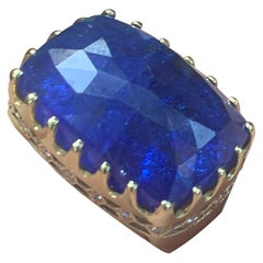Melissa Spencer Yellow Gold Tanzanite and Diamond Ring