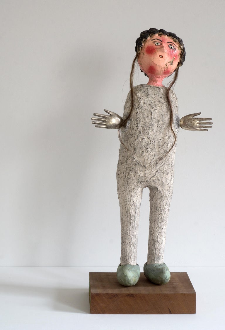 Melissa Stern, Dutch Shoes, clay, wood, objects, charcoal, graphite, 2018 - Sculpture by Melissa Stern