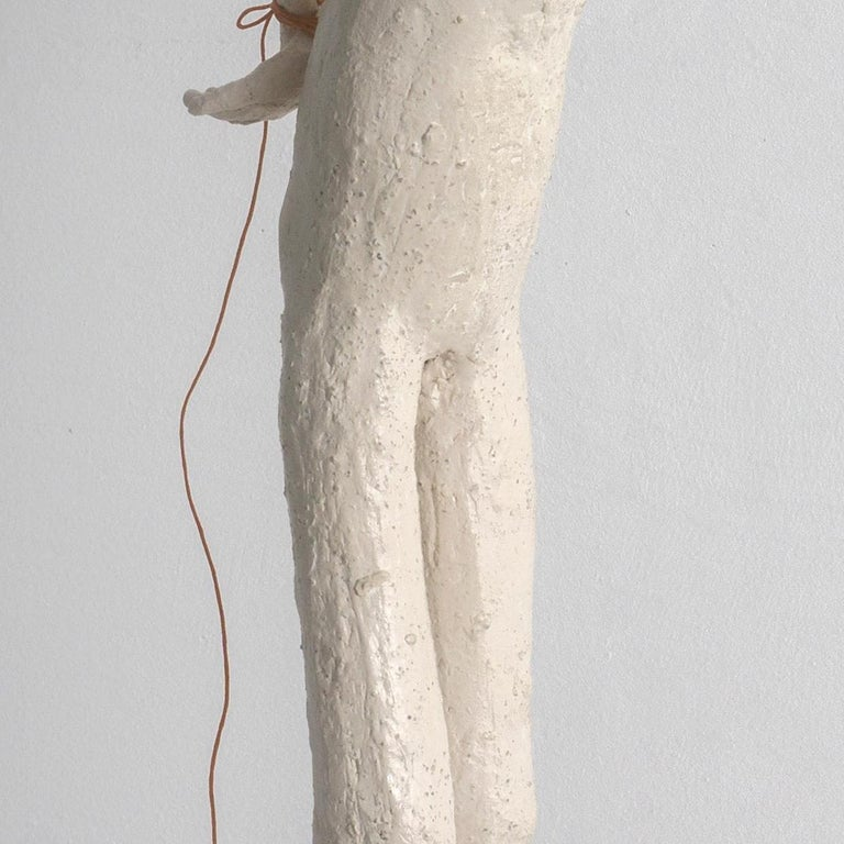 With a background in anthropology, Melissa Stern's work reflects both non-Western and self-taught art influences. Her drawings, collages, and figurative sculptures are characterized by their richly drawn and deeply layered surfaces, as well their
