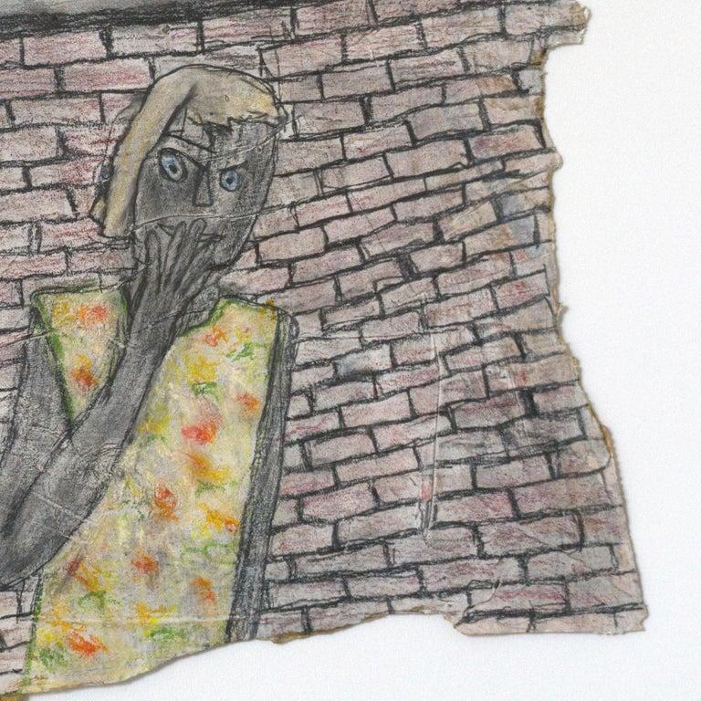 Melissa Stern, Secrets, Pastel, pencil, 2014 - Brown Figurative Sculpture by Melissa Stern
