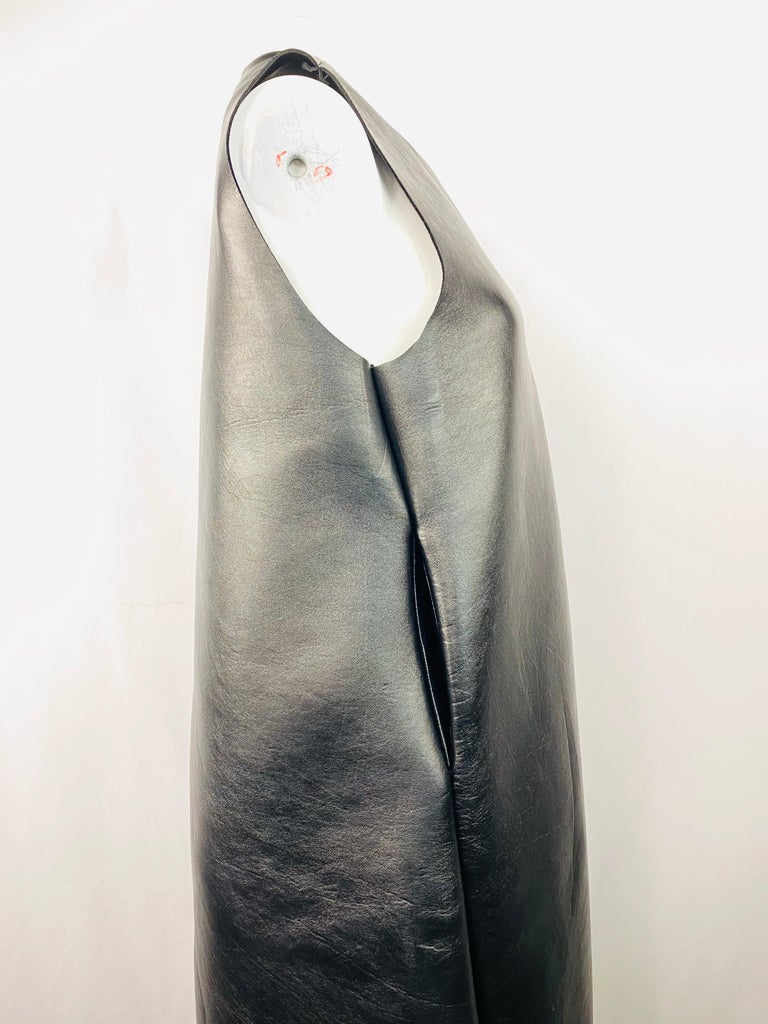 Melitta Baumeister Black Faux Leather Sleeveless Maxi Dress For Sale 1