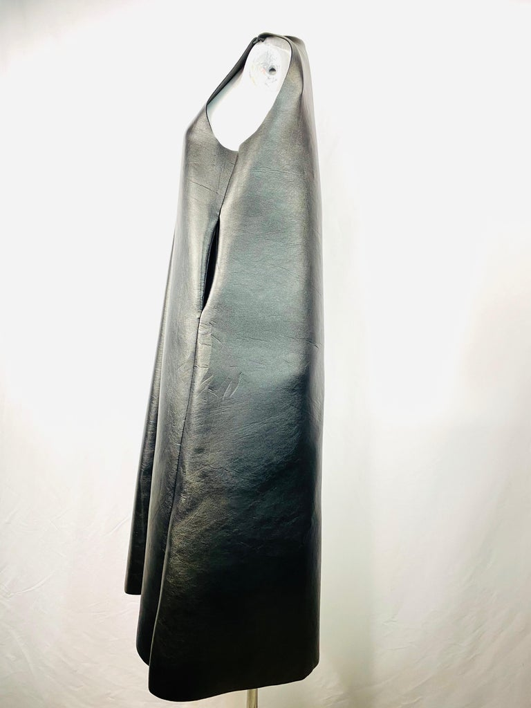 Melitta Baumeister Black Faux Leather Sleeveless Maxi Dress For Sale 4