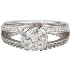 Mellerio Dits Meller Diamond 18 Karat White Gold Engagement Ring