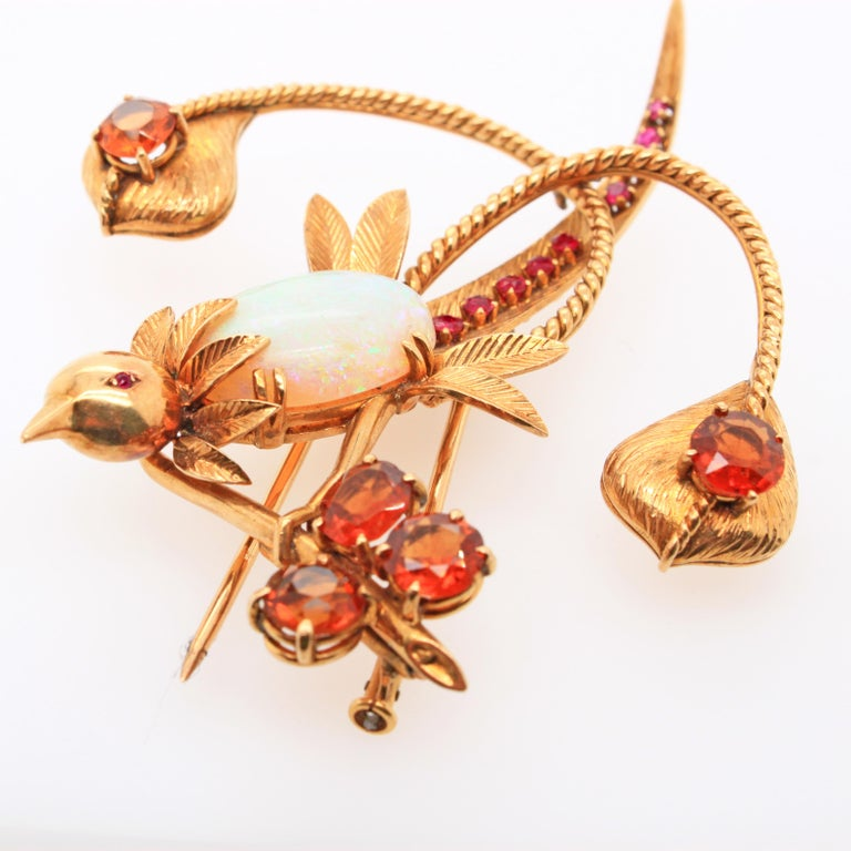 Mellerio dits Meller Hummingbird Brooch, circa 1960s For Sale 1