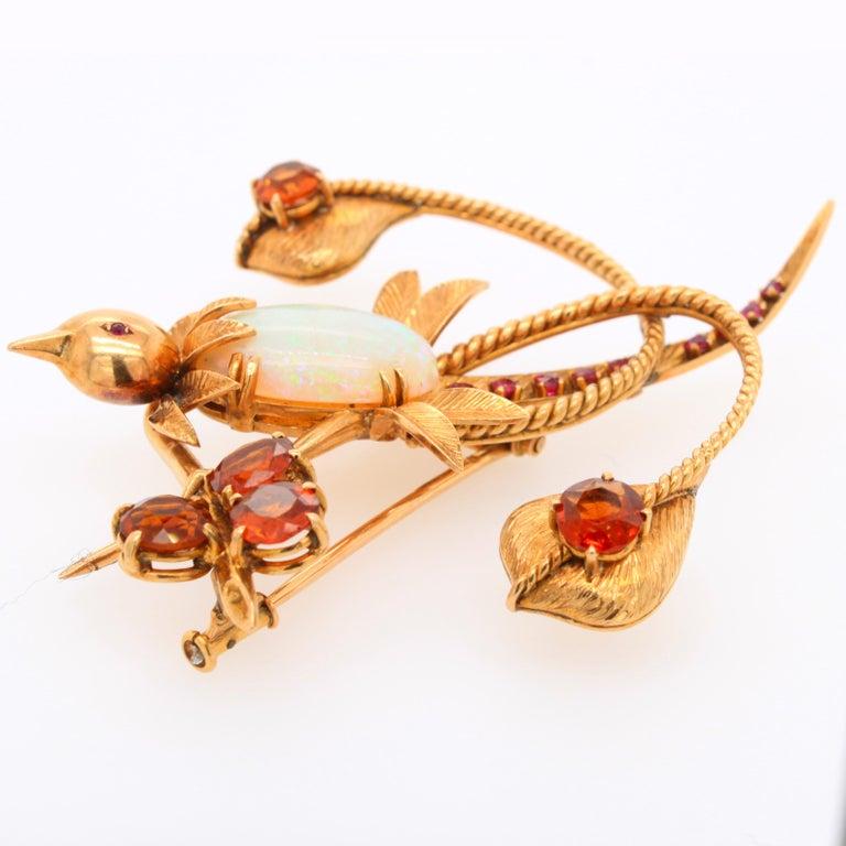 Mellerio dits Meller Hummingbird Brooch, circa 1960s For Sale 3