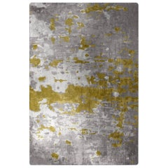 Mellow Yellow Rug in Silk from Fortuny Collection by Cristina Jorge de Carvalho