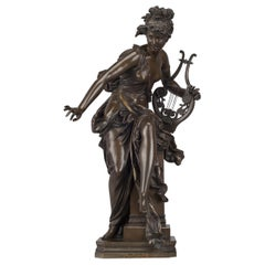 'Melodie', Bronze Figure after Albert Ernest Carrier-Belleuse, French circa 1870
