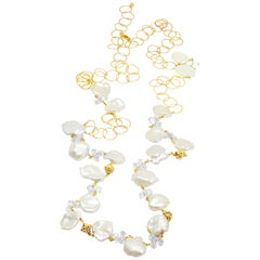 Melody Chain White Pearl 18k Gold Necklette