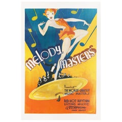 Melody Masters 1933 U.S. One Sheet Film Poster