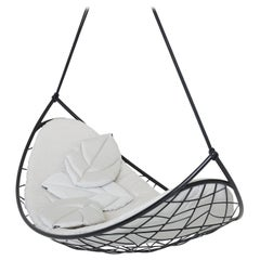 Melon Hanging Swing Chair Modern Daybed In/Outdoor Grey 'cushion additional'