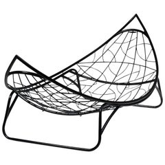 Melon Legs Base Swing Chair Modern 21st Century Steel Daybed In/Outdoor White