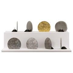 Mélos Table Lamp Aluminium by Aro Vega for Monogram