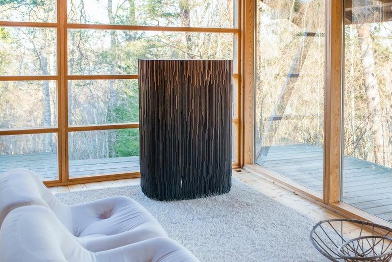 Finnish MELT Cabinet in Gradient Stained Pine by Antrei Hartikainen For Sale