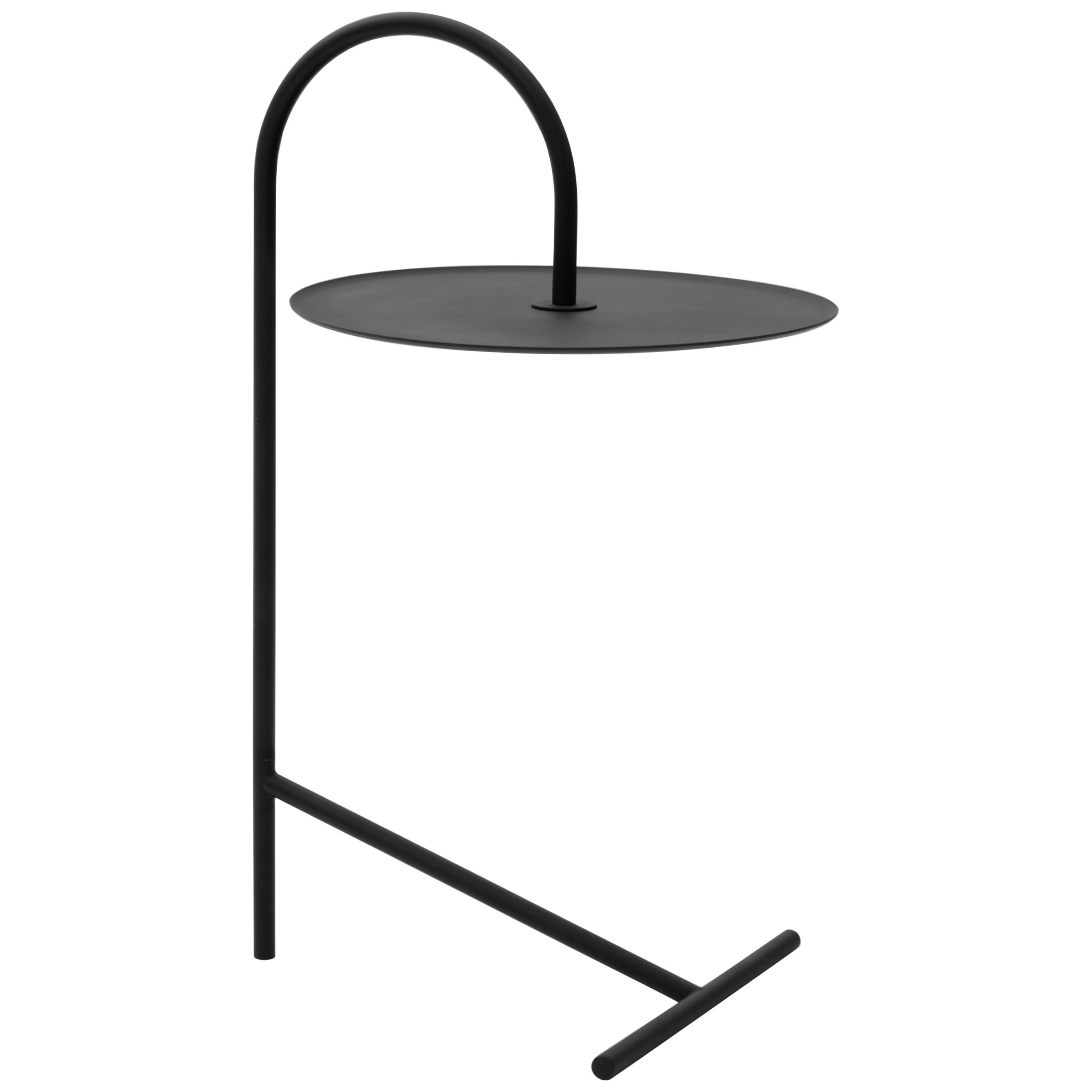 MELT, minimalistic steel black side coffee TABLE by oitoproducts