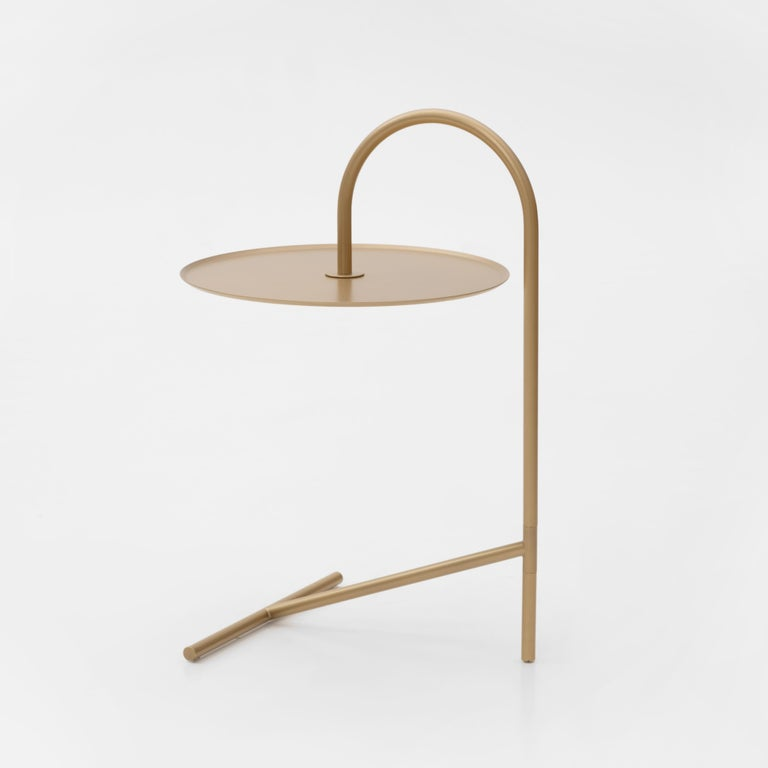Modern  MELT, minimalistic gold steel side coffee TABLE by oitoproducts For Sale