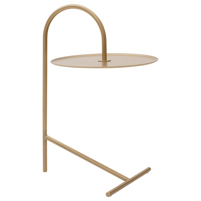 MELT, minimalistic gold steel side coffee TABLE by oitoproducts For Sale