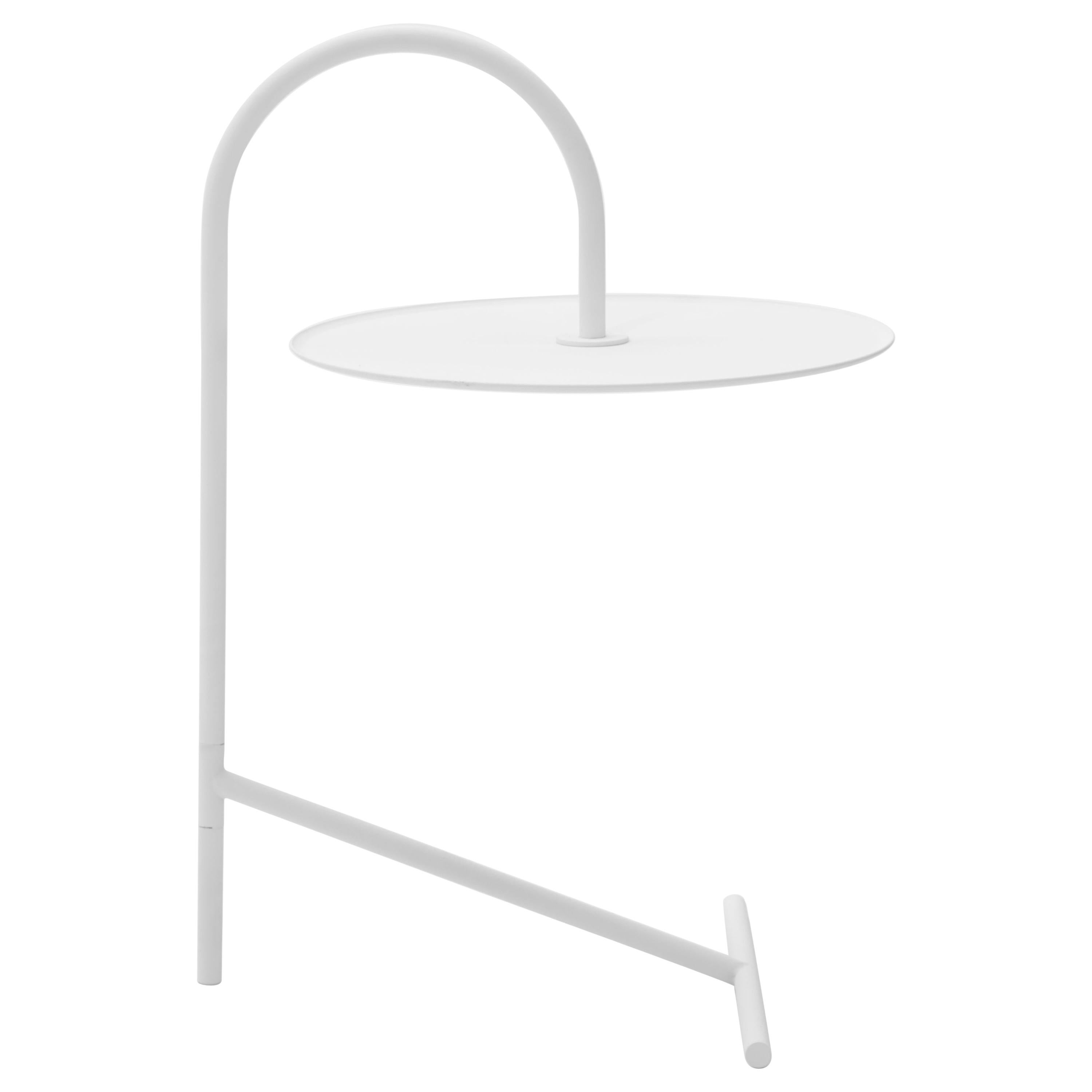 MELT, minimalistic white steel side coffee TABLE by oitoproducts