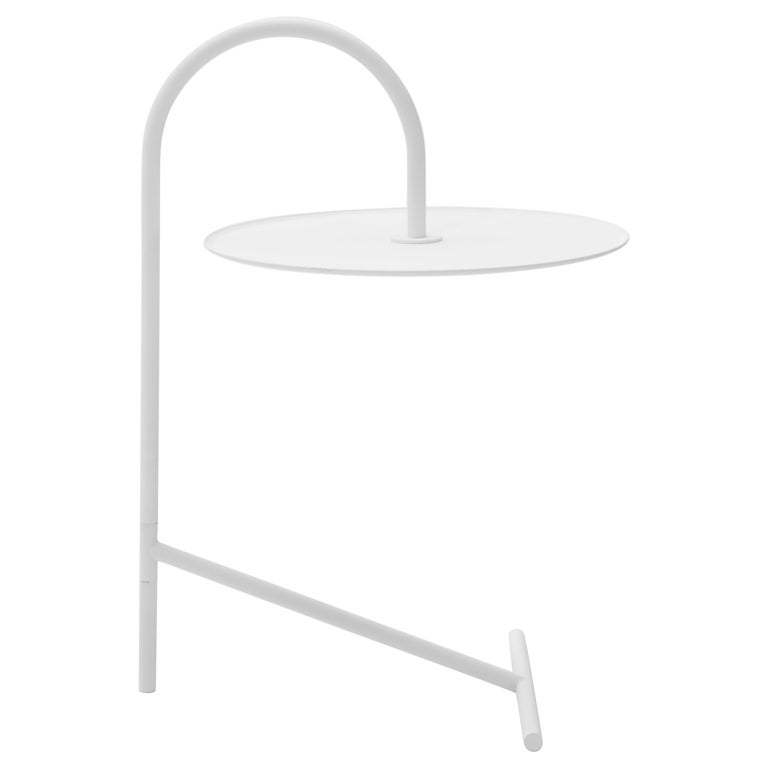 MELT, minimalistic white steel side coffee TABLE by oitoproducts For Sale