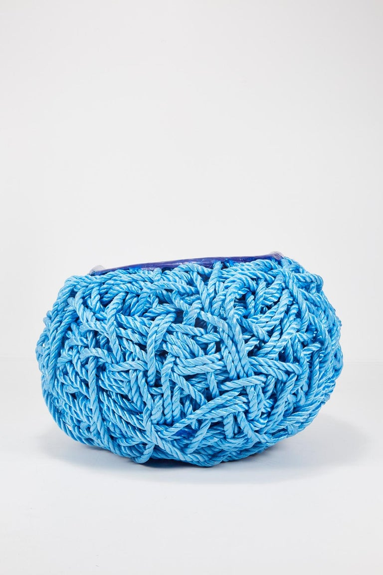 Meltdown Chair PP Rope Blue Chair by Tom Price, 2017 For Sale 1