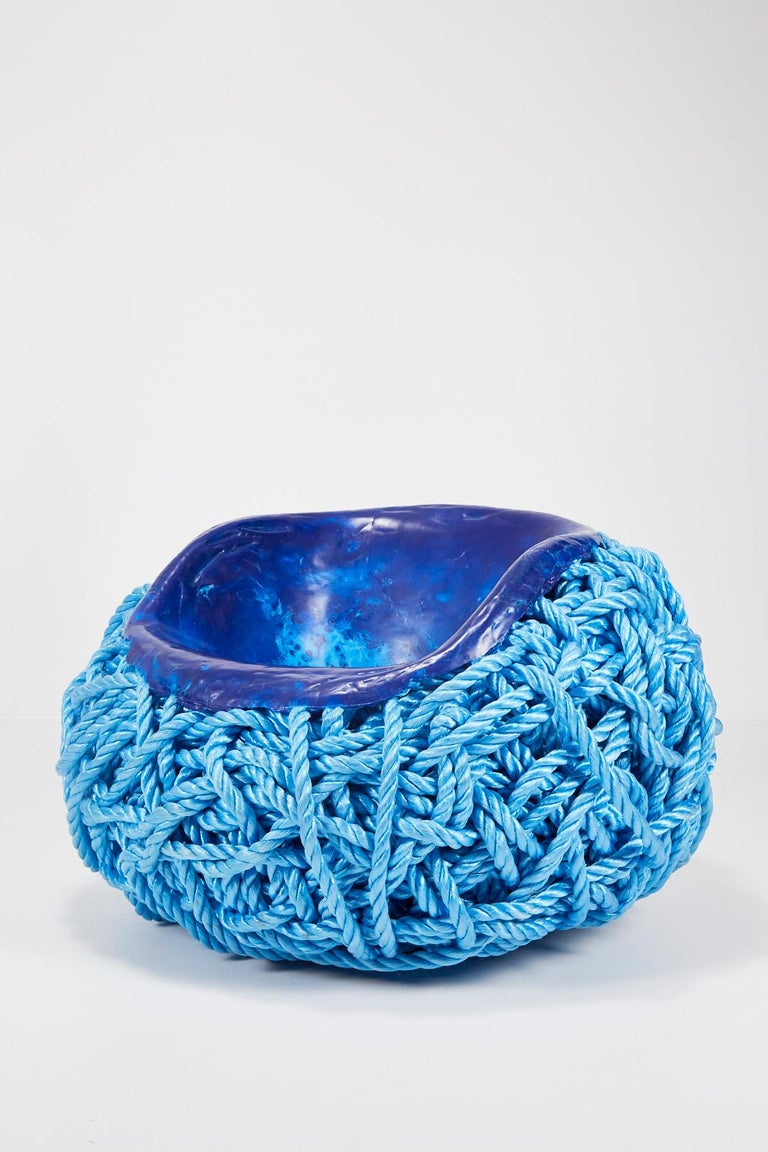 Meltdown Chair PP Rope Blue Chair by Tom Price, 2017 For Sale 3