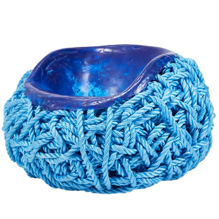 Meltdown Chair PP Rope Blue Chair by Tom Price, 2017 For Sale