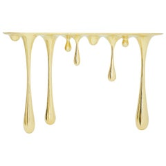 Melting Brass Console Table or Hallway Table by Zhipeng Tan
