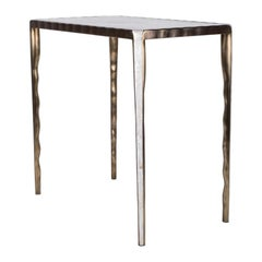 Melting Nesting Table L in Mother of Pearl & Bronze-Patina Brass by R&Y Augousti