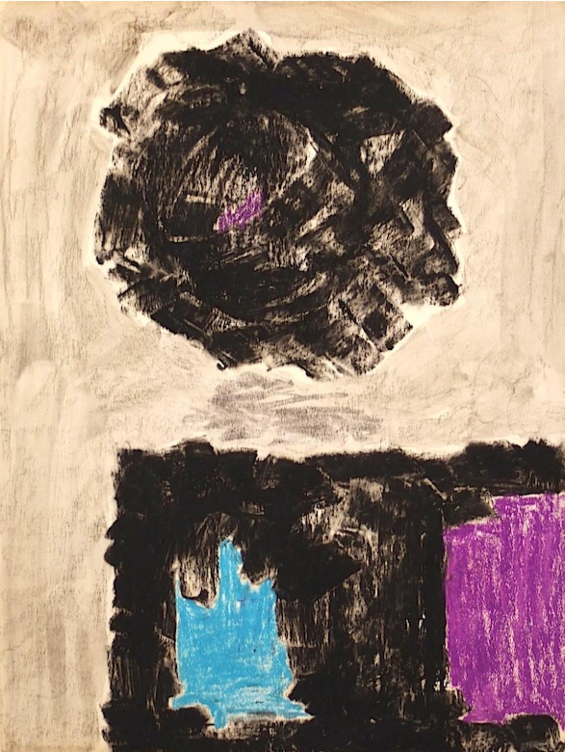 Untitled (Black Purple Cerulean)