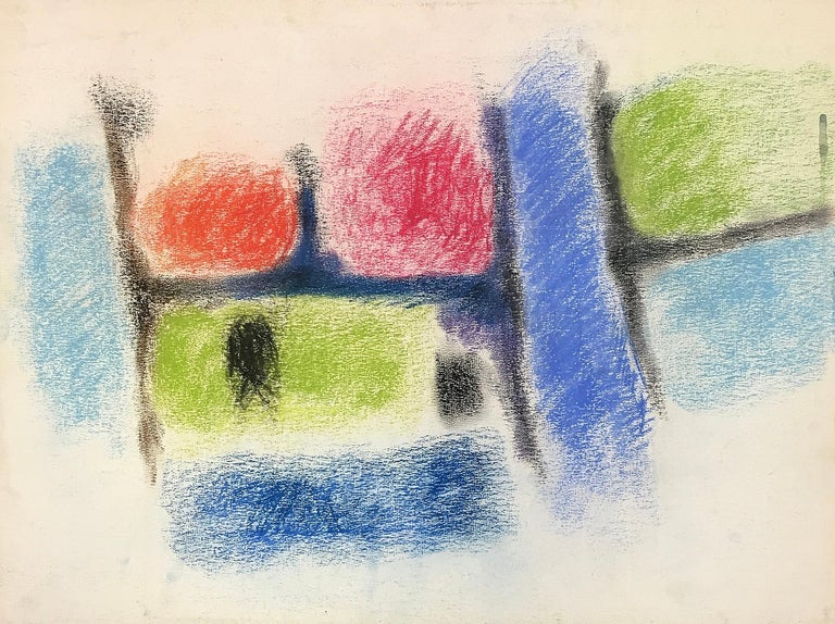 Melville Price Abstract Painting - Untitled