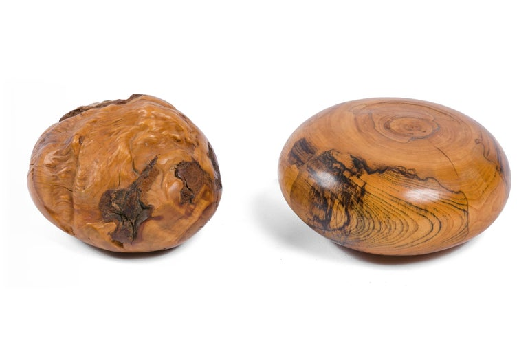 American Melvin Lindquist Sculptural Handcrafted Wood Paperweights, USA 1970s For Sale