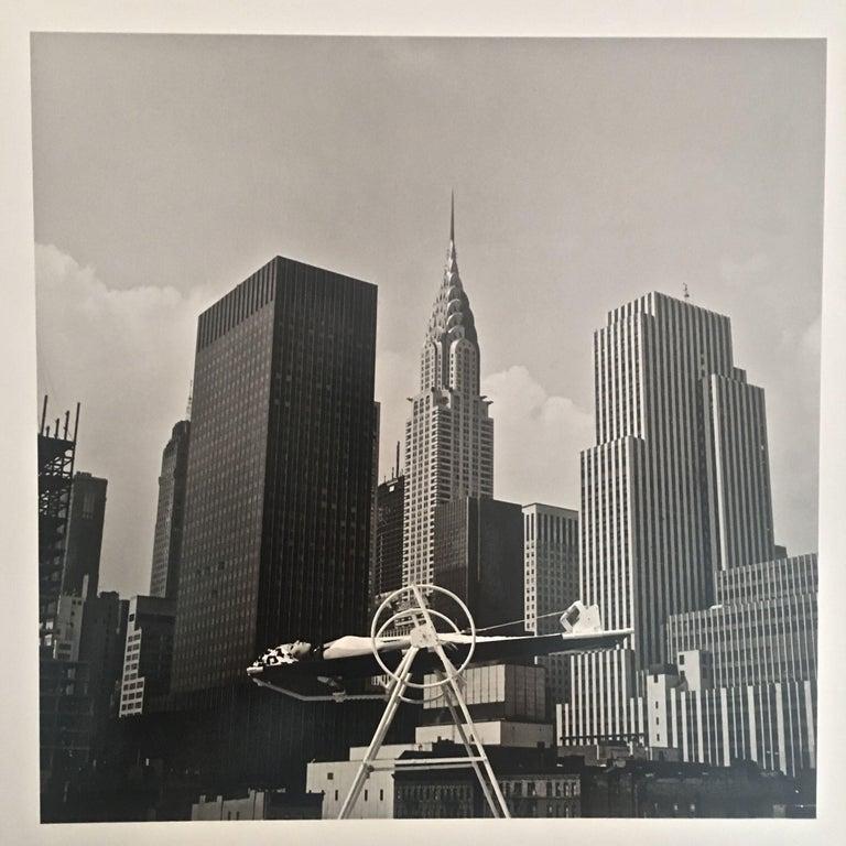 Melvin Sokolsky Black and White Photograph - ANKA YOGA WHEEL - VINTAGE PHOTOGRAPH - BLACK & WHITE PHOTOGRAPHY