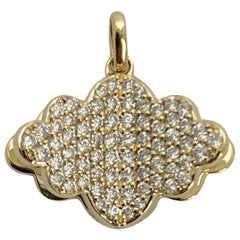 Memento All Diamond Cloud with Pages Charm Pendant