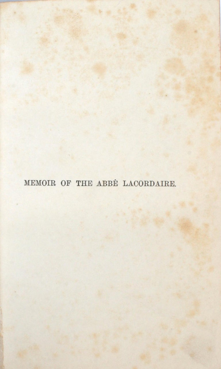 English Memoir of the Abbé Lacordaire by the Count De Montalembert, First Edition For Sale