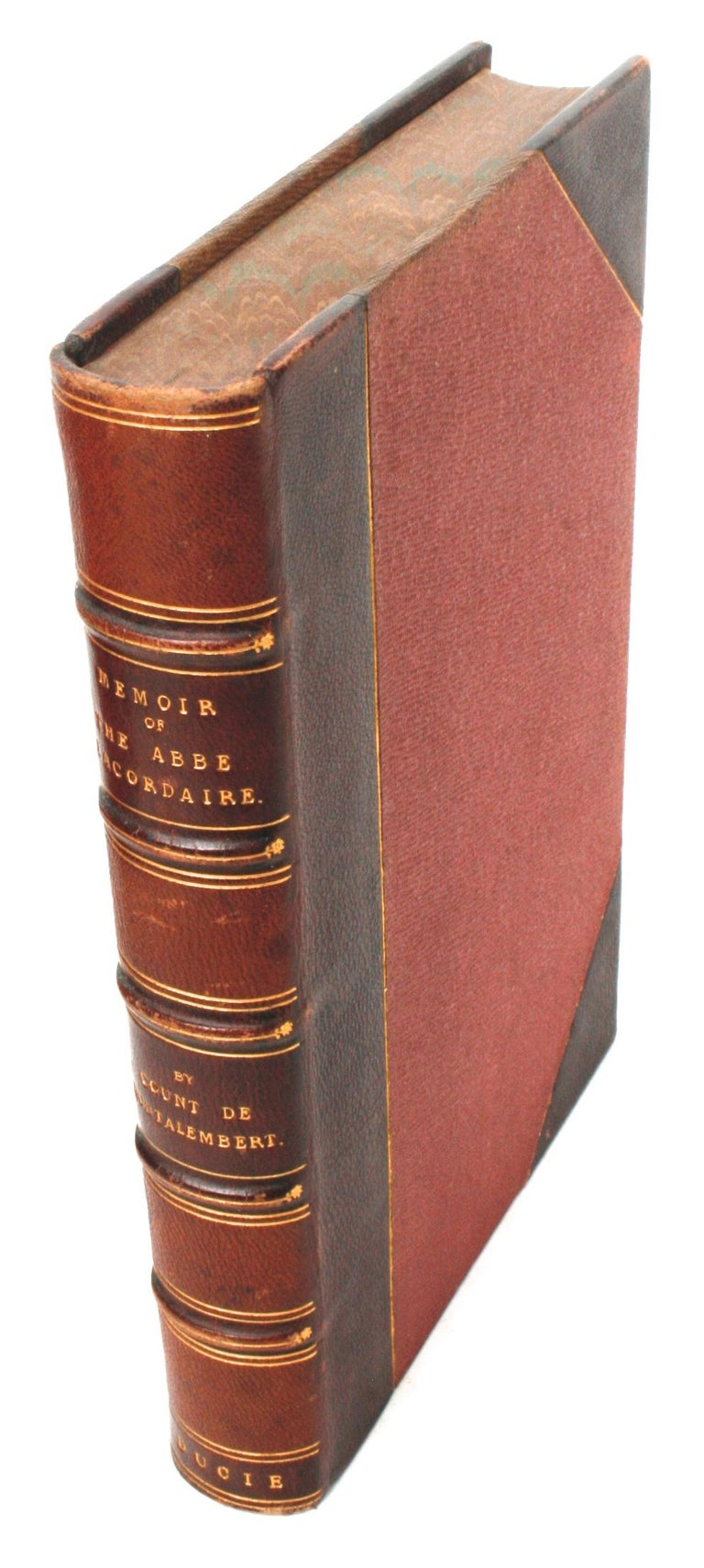 Memoir of the Abbé Lacordaire by the Count De Montalembert, First Edition In Good Condition For Sale In valatie, NY